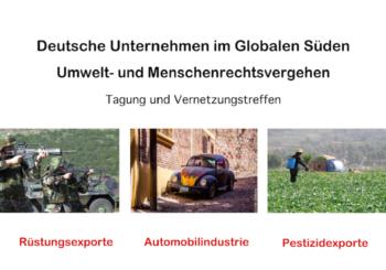 Deutsche Unternehmen im globalen Süden – Tagung und Vernetzungstreffen